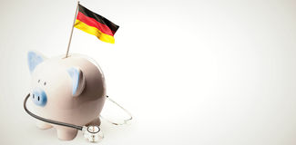 Composite image of digitally generated german national flag Stock Photo