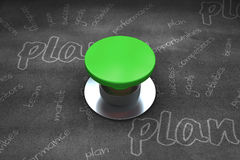 Composite image of digitally generated green push button Royalty Free Stock Photos
