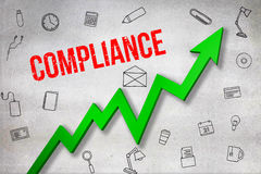 Composite image of digitally generated image of compliance text Stock Photography
