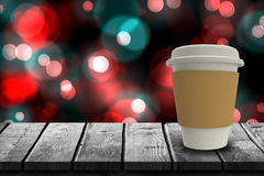 Composite image of digitally generated image of disposable cup 3d Royalty Free Stock Photography
