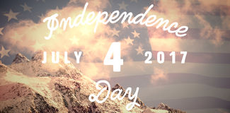 Composite image of digitally generated image of happy 4th of july message. Digitally generated image of happy 4th of july message against united states of Royalty Free Stock Images
