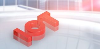 Composite image of digitally generated image of  internet of things in red color 3d Royalty Free Stock Photo