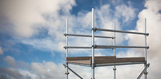 Composite image of digitally generated image of scaffolding 3d Royalty Free Stock Image