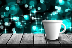 Composite image of digitally generated image of tea cup 3d Royalty Free Stock Photography