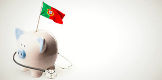 Composite image of digitally generated portugal national flag Royalty Free Stock Photography