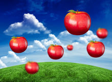Composite image of digitally generated shiny red apples Royalty Free Stock Photos