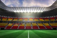 Composite image of digitally generated spanish national flag Stock Image