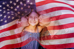 Composite image of digitally generated united states national flag Stock Photography