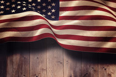 Composite image of digitally generated united states national flag Royalty Free Stock Photography