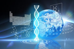Composite image of dna helix interface Royalty Free Stock Image