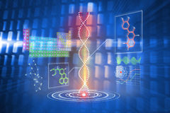 Composite image of dna helix interface Stock Photography