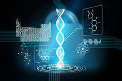 Composite image of dna helix interface Royalty Free Stock Images