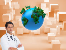 Composite image of doctor with arms crossed Stock Images