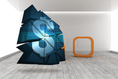 Composite image of dollar sign on abstract screen Stock Image