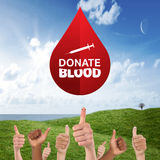 Composite image of donate blood Stock Photos