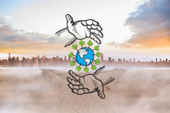 Composite image of earth conservation doodle Royalty Free Stock Photo