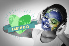 Composite image of earth day graphic Stock Photos