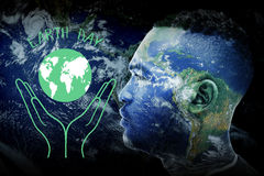 Composite image of earth day graphic Stock Images