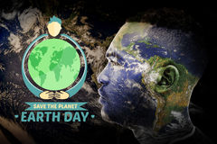 Composite image of earth day graphic Royalty Free Stock Image