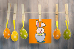 Composite image of easter bunny Stock Photography