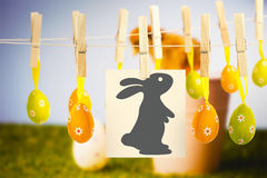 Composite image of easter bunny Royalty Free Stock Photos
