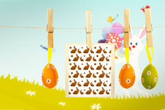Composite image of easter bunnys Royalty Free Stock Image