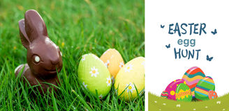 Composite image of easter  egg hunt graphic Royalty Free Stock Images