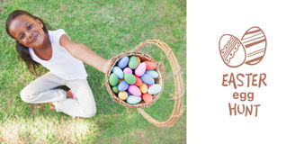 Composite image of easter egg hunt graphic Royalty Free Stock Image