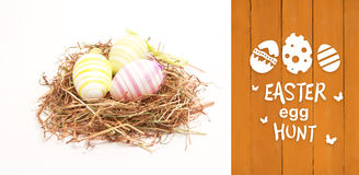Composite image of easter egg hunt graphic Stock Photo