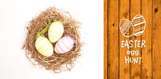 Composite image of easter egg hunt graphic Stock Photos