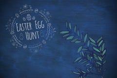 Composite image of easter egg hunt logo against a black background Stock Photography