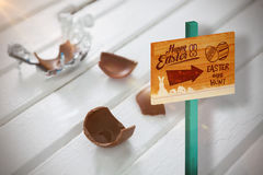 Composite image of easter egg hunt sign Stock Photos