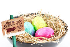 Composite image of easter egg hunt sign Royalty Free Stock Images