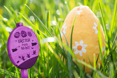 Composite image of easter egg hunt sign Stock Photo