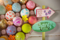 Composite image of easter egg hunt sign Stock Photography