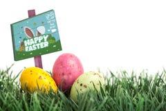 Composite image of easter egg hunt sign Stock Image