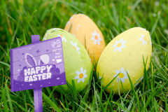 Composite image of easter egg hunt sign Stock Images