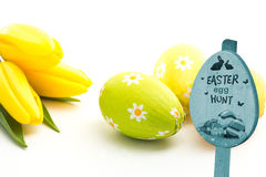 Composite image of easter egg hunt sign Royalty Free Stock Photo