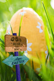Composite image of easter egg hunt sign Royalty Free Stock Image