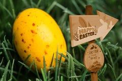 Composite image of easter egg hunt sign Stock Images
