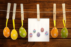 Composite image of easter eggs Royalty Free Stock Photography