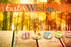 Composite image of easter greeting Royalty Free Stock Image