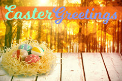 Composite image of easter greeting Stock Photo