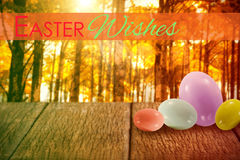 Composite image of easter greeting Royalty Free Stock Images