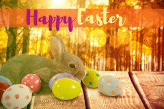 Composite image of easter greeting Stock Photos