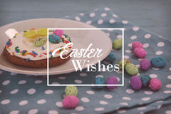 Composite image of easter greeting Stock Image