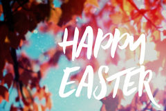 Composite image of easter greeting Royalty Free Stock Photo