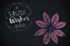 Composite image of easter wishes logo against black background Stock Photo