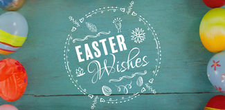 Composite image of easter wishes logo Stock Images