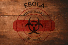 Composite image of ebola virus alert Royalty Free Stock Photo